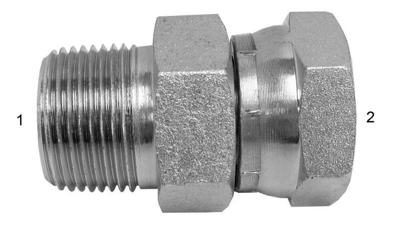 JIC/NPT/ORB Adapters -  - NPTF Male to NPSM Swivel Female