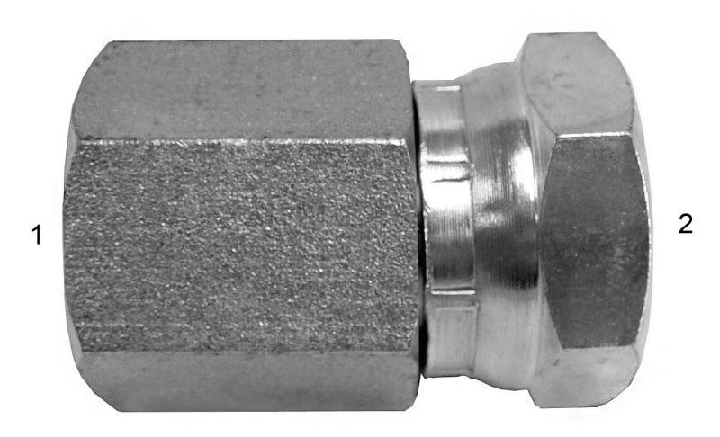 JIC/NPT/ORB Adapters -  - NPTF Rigid Female to NPSM Swivel Female