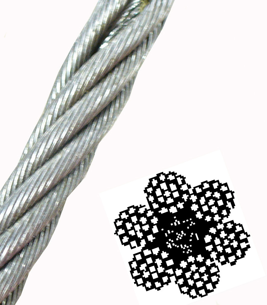 6 x 25 Wire Core -  - 6 x 25 Wire Center Wire Rope