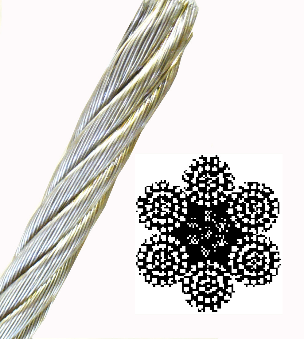 6 x 37 Wire Core -  - 6 x 37 Wire Center Wire Rope