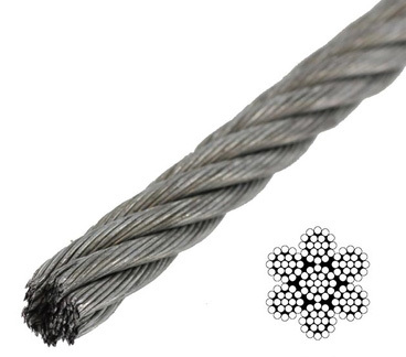 7 x 7 / 7 x 19 Galvanized -  - 7 x 19 Galvanized Aircraft Cables