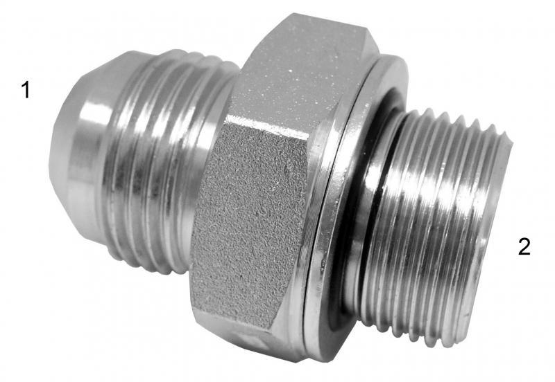 Metric Adapters -  - Male JIC to Male British Parallel with Washer and O-Ring
