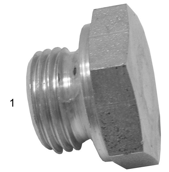 Metric Adapters -  - Male Metric Hex Plug