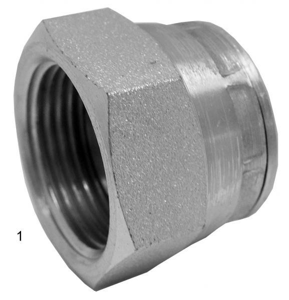 Metric Adapters -  - Swivel BSPP Cap