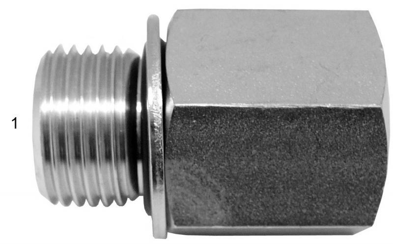 Metric Adapters -  - Male BSPP with Washer & O-Ring to Female NPT