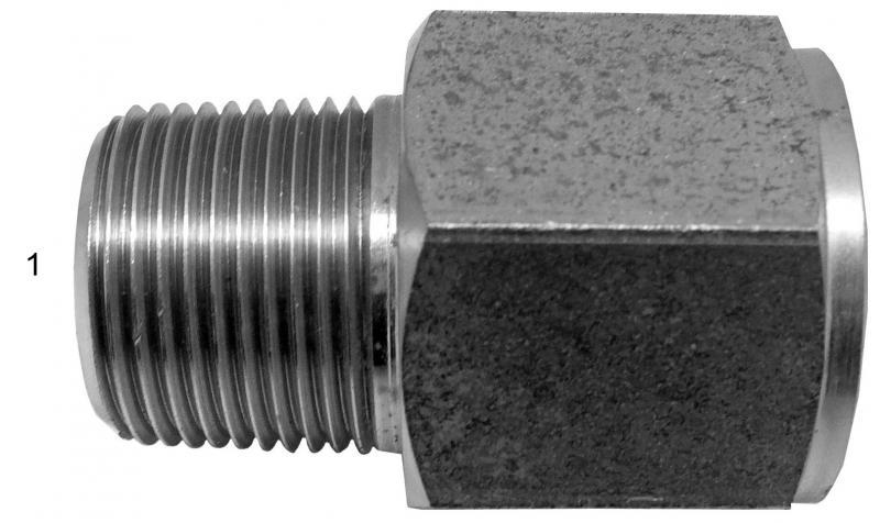 Metric Adapters -  - Male NPT to Female BSPP
