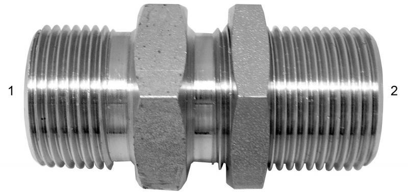 Metric Adapters -  - Male BSPP to Male BSPP