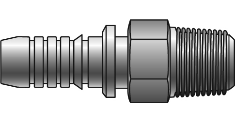 GSP Couplings - Gates - Male Pipe (NPTF - 30° Cone Seat)