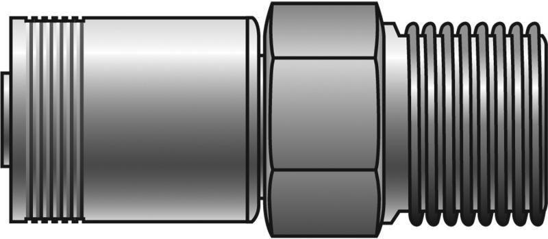 GSM Couplings - Gates - Male Pipe (NPTF - 30° Cone Seat) - GSM
