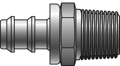 Lock-On Couplings - Gates - Male Pipe (NPTF) 30° Cone Seat - Lock-On Couplings