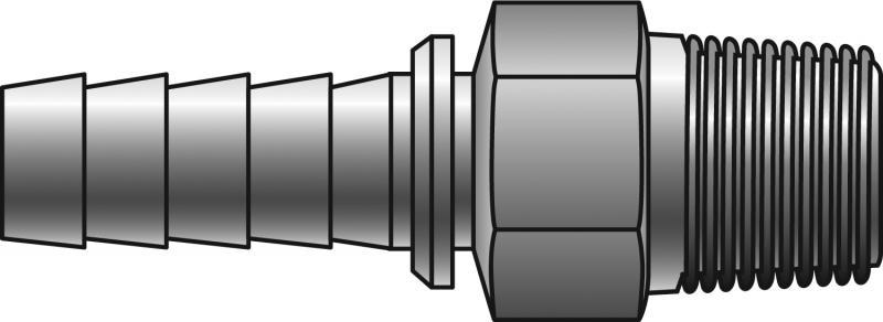 Power Crimp Couplings - Gates - NPTF Solid Male (30° Cone Seat)